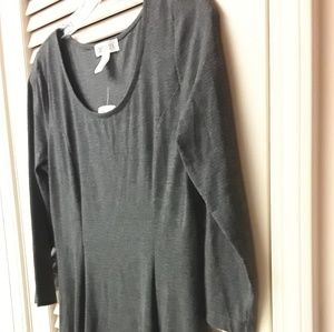 Forever 21 Fall Boho Grey Midi Dress NWT Sz L